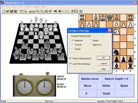 CompuChess - Free 3D chess software downloads