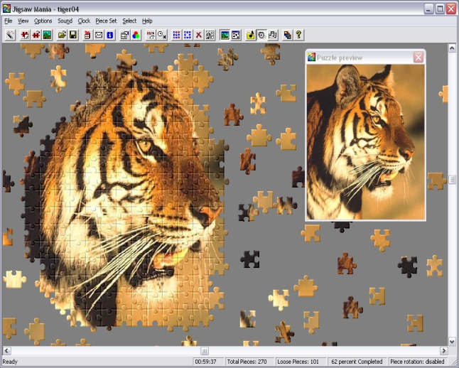 Create and play over 600 Jigsaws on your PC!