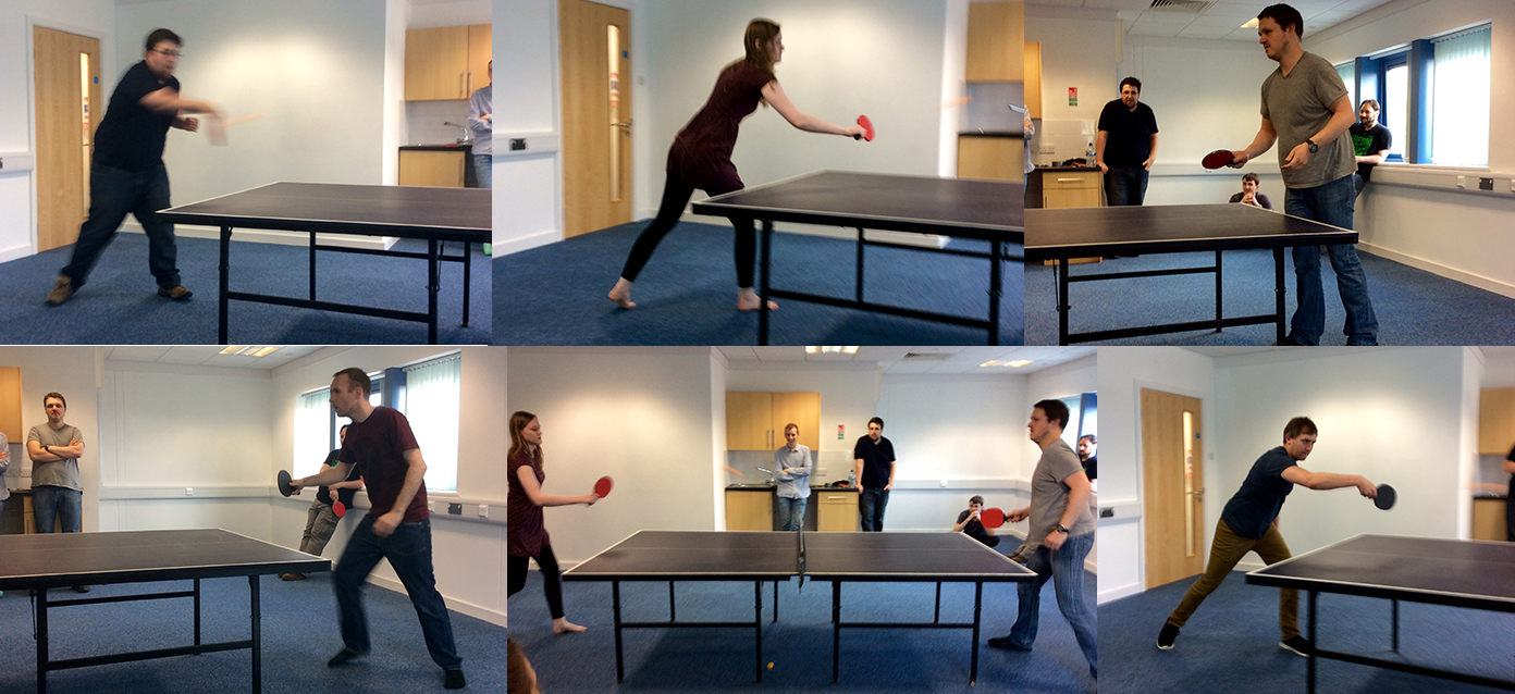 table tennis collage