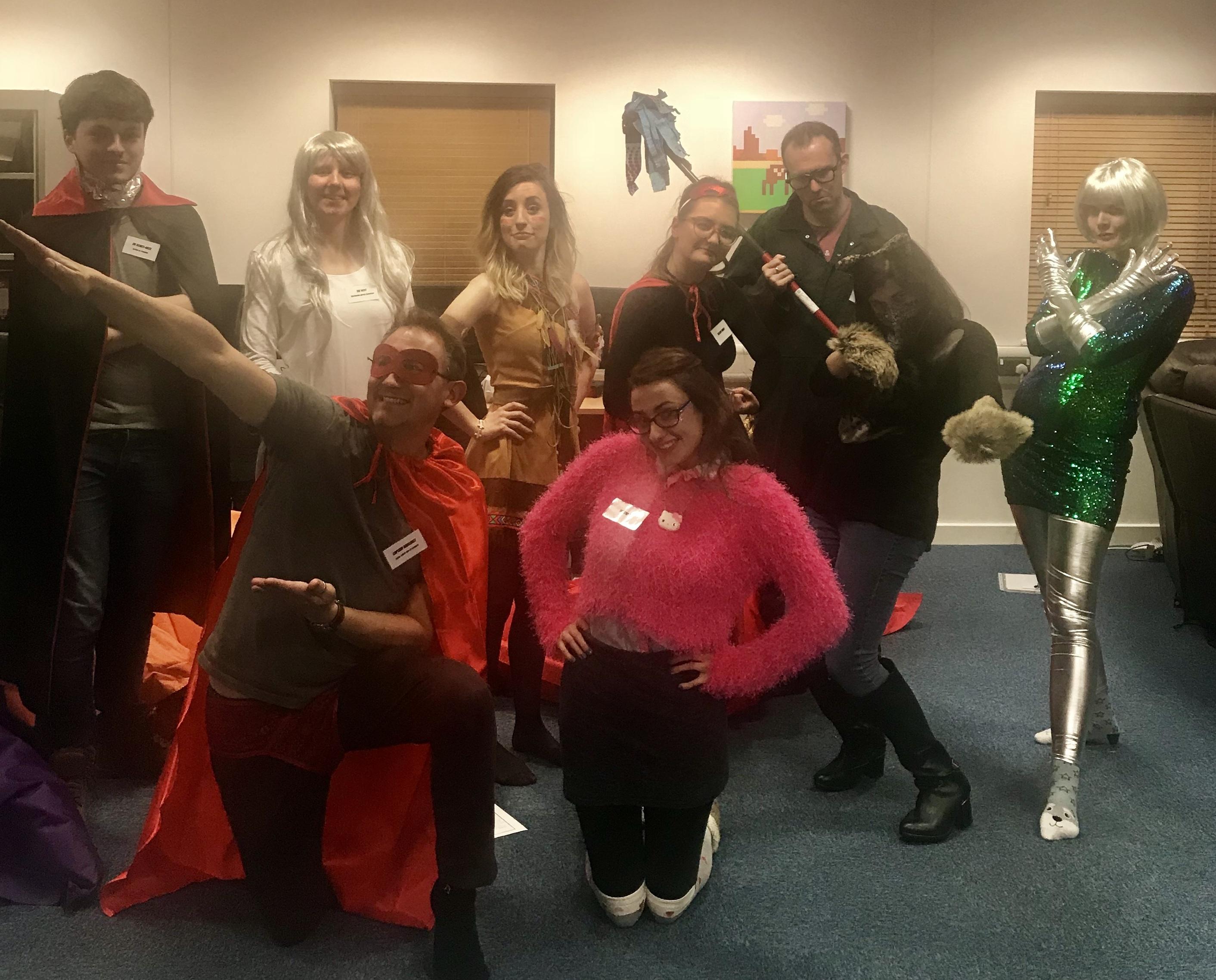 Everyone in costume