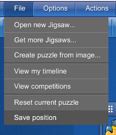 A menu called File open, with an option saying Save Postition highlighted